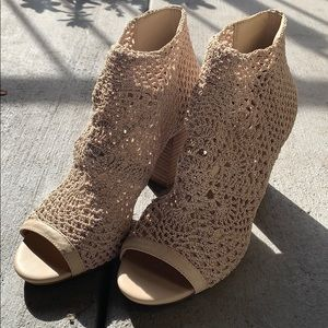 Crochet Open Toe Ankle Bootie